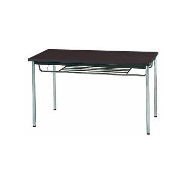 【送料無料】生興 MTS-1275ISD(Dブラウン) テーブル [棚付]【同梱配送不可】【代引き不可】【沖縄・北海道・離島配送不可】