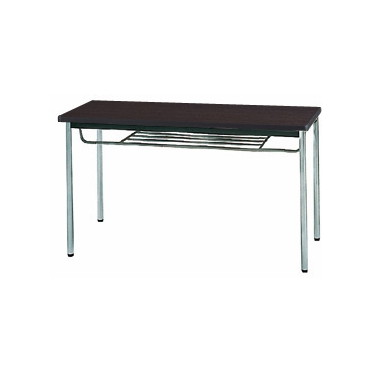 生興 MTS-1260ISD(Dブラウン) テーブル [棚付] 【同梱配送不可】【代引き・後払い決済不可】【沖縄・北海道・離島配送不可】