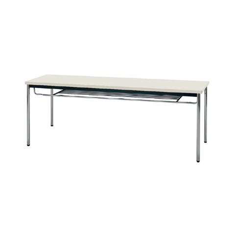 【送料無料】生興 MTS-1845ITG(ニューグレー) テーブル [棚付]【同梱配送不可】【代引き不可】【沖縄・北海道・離島配送不可】