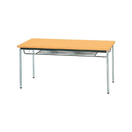 【送料無料】生興 MTS-1575ITP(Pアルダー) テーブル [棚付]【同梱配送不可】【代引き不可】【沖縄・北海道・離島配送不可】