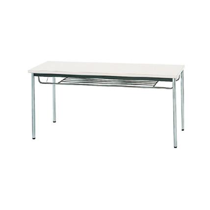 【送料無料】生興 MTS-1560ITW(ホワイト) テーブル [棚付]【同梱配送不可】【代引き不可】【沖縄・北海道・離島配送不可】
