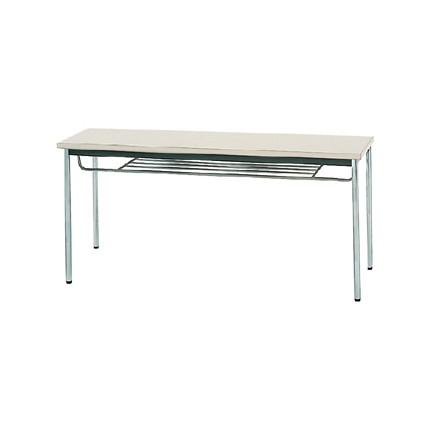 【送料無料】生興 MTS-1545ITG(ニューグレー) テーブル [棚付]【同梱配送不可】【代引き不可】【沖縄・北海道・離島配送不可】