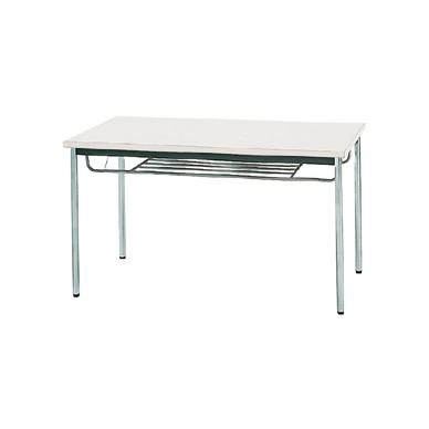 【送料無料】生興 MTS-1275ITW(ホワイト) テーブル [棚付]【同梱配送不可】【代引き不可】【沖縄・北海道・離島配送不可】