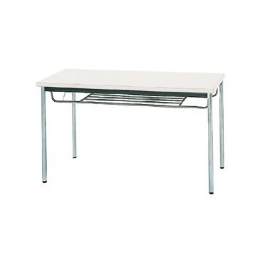 生興 MTS-1260ITW(ホワイト) テーブル [棚付] 【同梱配送不可】【代引き・後払い決済不可】【沖縄・北海道・離島配送不可】