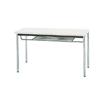 【送料無料】生興 MTS-1245ITW(ホワイト) テーブル [棚付]【同梱配送不可】【代引き不可】【沖縄・北海道・離島配送不可】