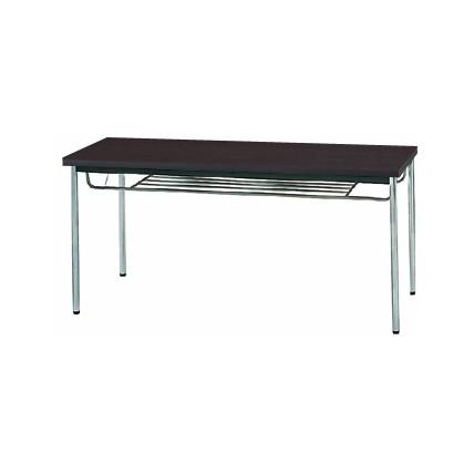 【送料無料】生興 MTS-1560ITD(Dブラウン) テーブル [棚付]【同梱配送不可】【代引き不可】【沖縄・北海道・離島配送不可】
