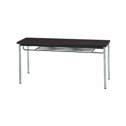 【送料無料】生興 MTS-1545ITD(Dブラウン) テーブル [棚付]【同梱配送不可】【代引き不可】【沖縄・北海道・離島配送不可】