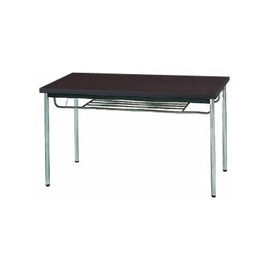 【送料無料】生興 MTS-1275ITD(Dブラウン) テーブル [棚付]【同梱配送不可】【代引き不可】【沖縄・北海道・離島配送不可】
