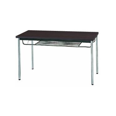 【送料無料】生興 MTS-1260ITD(Dブラウン) テーブル [棚付]【同梱配送不可】【代引き不可】【沖縄・北海道・離島配送不可】