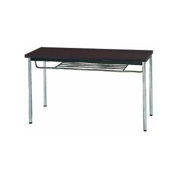 生興 MTS-1245ITD(Dブラウン) テーブル [棚付] 【同梱配送不可】【代引き・後払い決済不可】【沖縄・北海道・離島配送不可】
