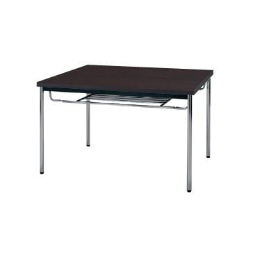 【送料無料】生興 MTS-0990ITD(Dブラウン) テーブル [棚付]【同梱配送不可】【代引き不可】【沖縄・北海道・離島配送不可】