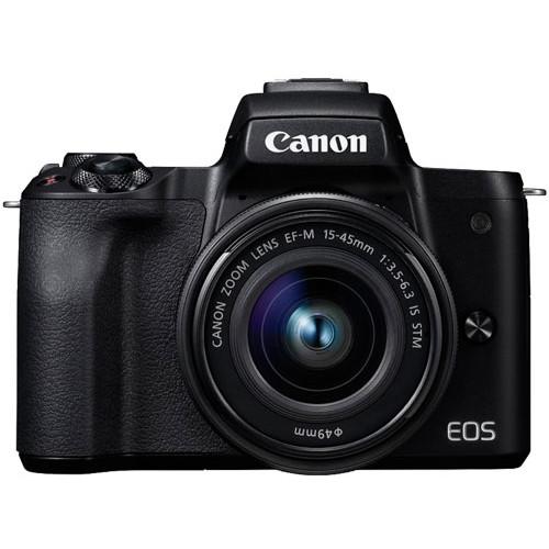 【送料無料】CANON EOS Kiss M EF-M15-45 IS STM レンズキット ブラック [ミラーレス一眼レフカメラ(2410万画素)]