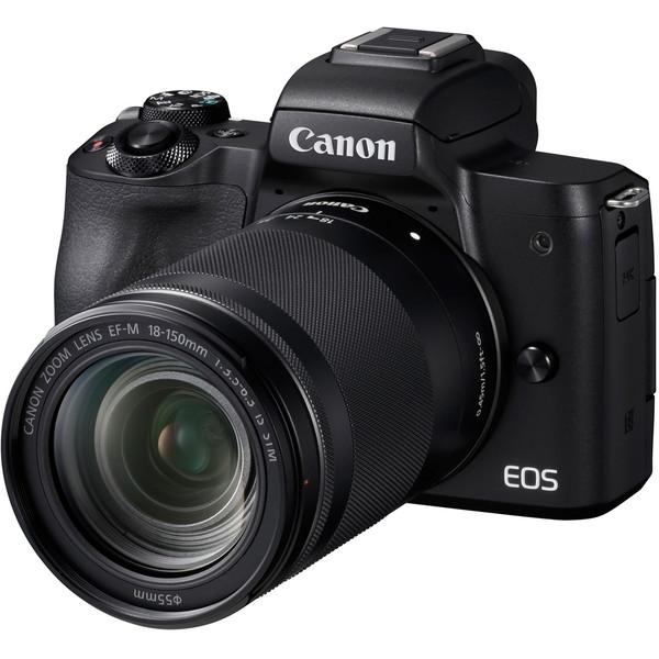 【送料無料】CANON EOS Kiss M EF-M18-150 IS STM レンズキット ブラック [ミラーレス一眼レフカメラ(2410万画素)]