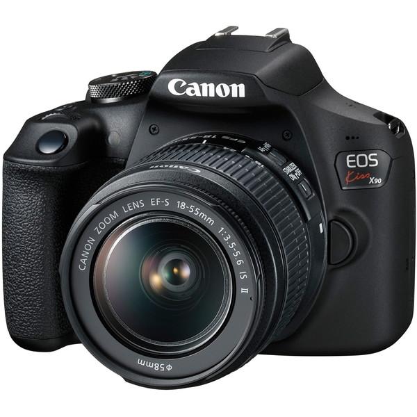 【送料無料】CANON EOS Kiss X90 EF-S18-55 IS II レンズキット [デジタル一眼レフカメラ(2410万画素)]