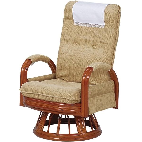 【送料無料】萩原 RZ-973-Hi-LBR [ギア回転座椅子ハイバック]【同梱配送不可】【代引き不可】【沖縄・北海道・離島配送不可】