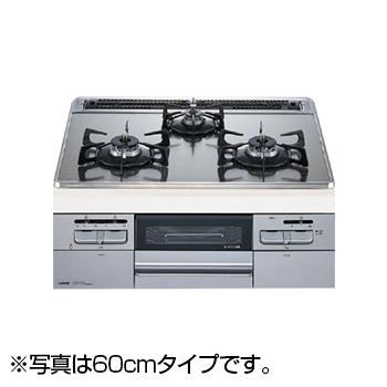 すっきりでフェイスデザインと充実グリル機能! NORITZ N3WQ7RWASKSI-LP Fami オートタイプ [ビルトインガスコンロ (プロパンガス用・左右強火力・幅75cm)]