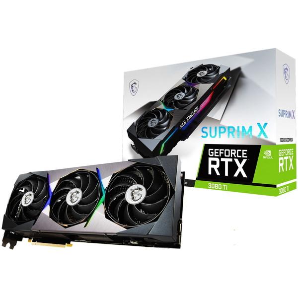 NVIDIA GeForce RTX 3080 Tiを搭載 MSI 新品未使用 Ti グラフィックボード 12GB X SUPRIM 流行のアイテム PCIExp 12G