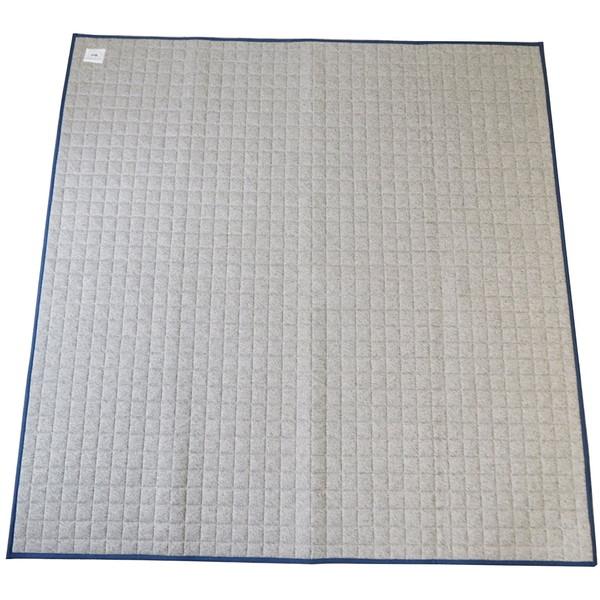 【送料無料】スミノエ 11748710 洗える ラグ モクニットキルト 185×240cm グレー