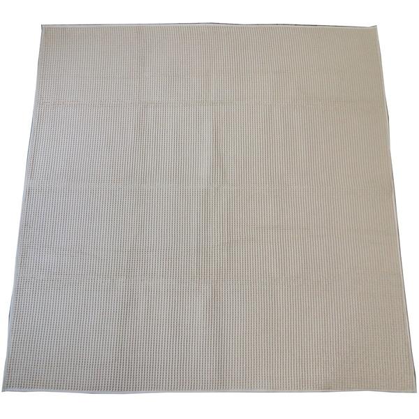 【送料無料】スミノエ 11748664 洗える ラグ コットンワッフル 185×240cm アイボリー