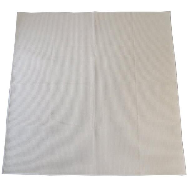 【送料無料】スミノエ 11748656 洗える ラグ コットンドロップ 185×185cm アイボリー