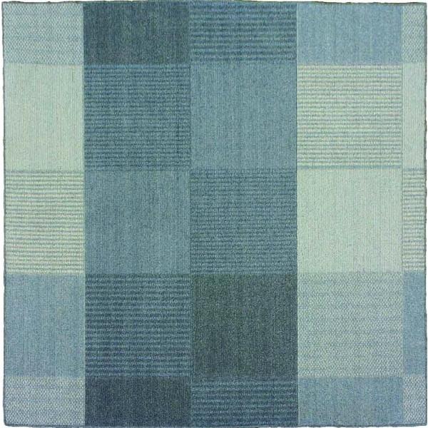 【送料無料】スミノエ 13469088 洗える ラグ カレ 190×190cm ブルー