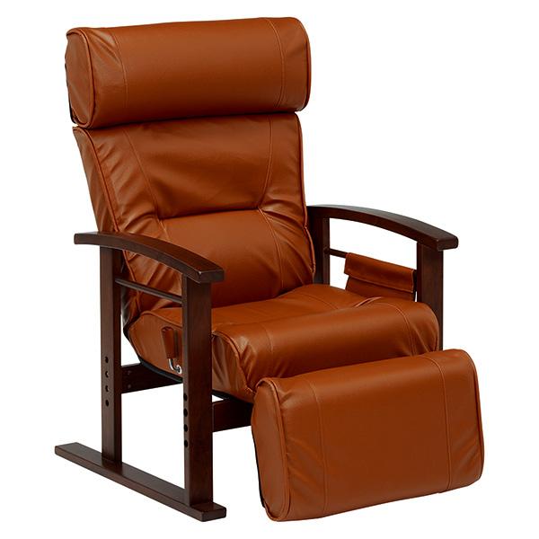 【送料無料】萩原 LZ-4758BR ブラウン [高座椅子]【同梱配送不可】【代引き不可】【沖縄・北海道・離島配送不可】