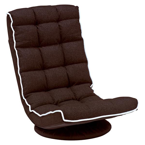 【送料無料】萩原 LZ-4267BR ブラウン [回転座椅子]【同梱配送不可】【代引き不可】【沖縄・北海道・離島配送不可】