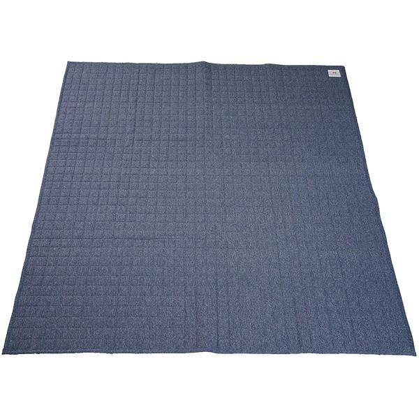 【送料無料】スミノエ 11744588 丸洗いできる ラグ スウェットキルト 190×240cm ブルー