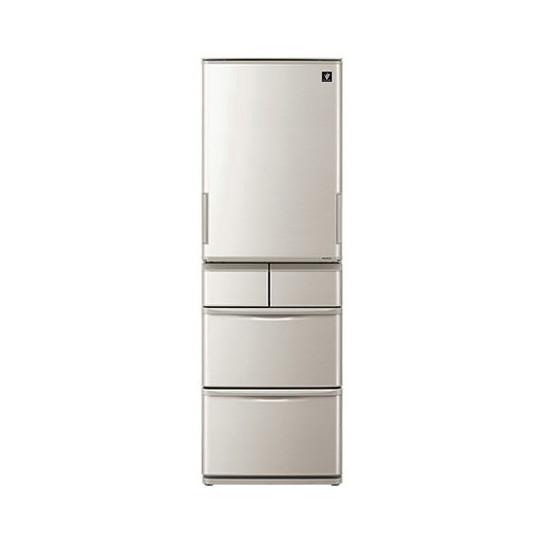 【送料無料】SHARP SJ-W412D シルバー系 [冷蔵庫(412L・左右開き)]