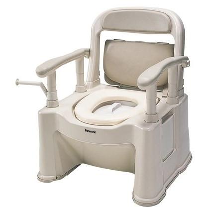 【送料無料】PANASONIC(パナソニック) VALSPTSPS [ポータブルトイレ 座楽背もたれ型SPソフトタイプ] [介護 福祉 医療 病院 介助]