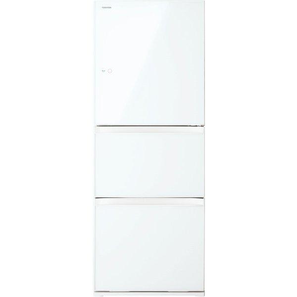 【送料無料】東芝 GR-M33SXV(EW) グランホワイト VEGETA(ベジータ) [冷蔵庫(330L・右開き・3ドア)]