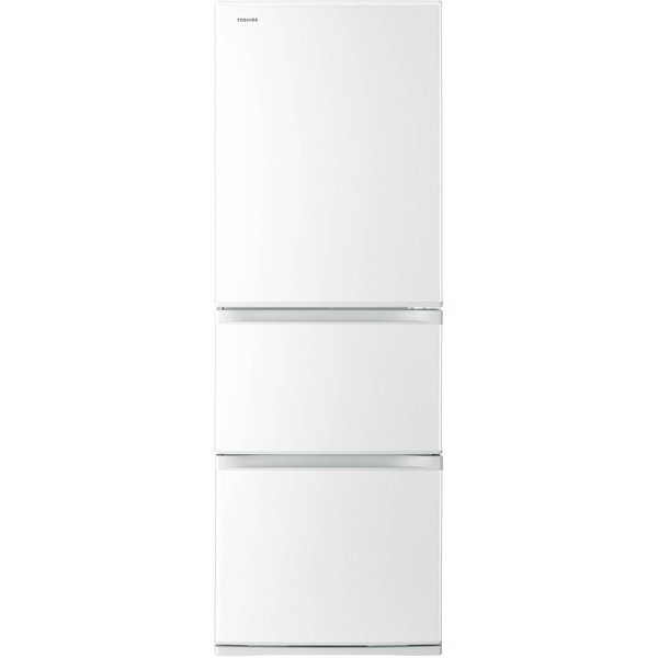 【送料無料】東芝 GR-M36S(WT) グレインホワイト VEGETA(ベジータ) [冷蔵庫(363L・右開き・3ドア)]