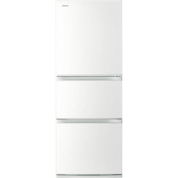 【送料無料】東芝 GR-M33S(WT) グレインホワイト VEGETA(ベジータ) [冷蔵庫(330L・右開き・3ドア)]