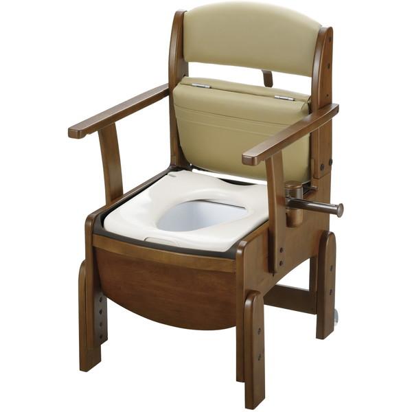 【送料無料】Richell(リッチェル) 木製トイレ きらくコンパクト 普通便座 [介護 福祉 医療 病院 介助]