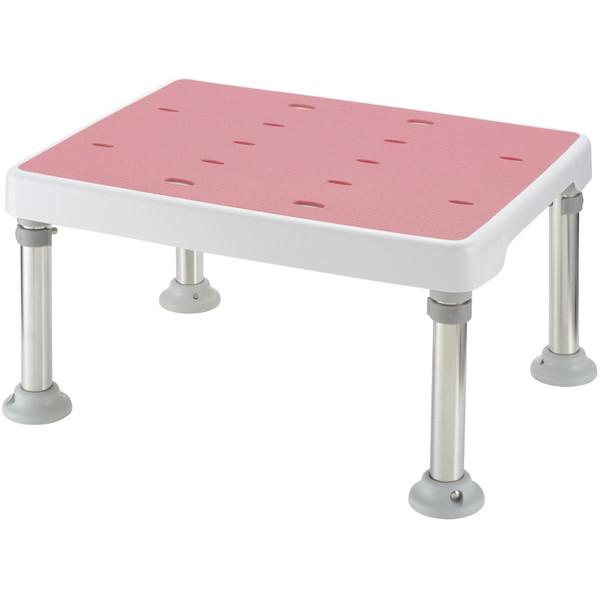 【送料無料】Richell(リッチェル) 浴そう台高さ調節付きすべり止め ピンク H型 [介護 福祉 医療 病院 介助]