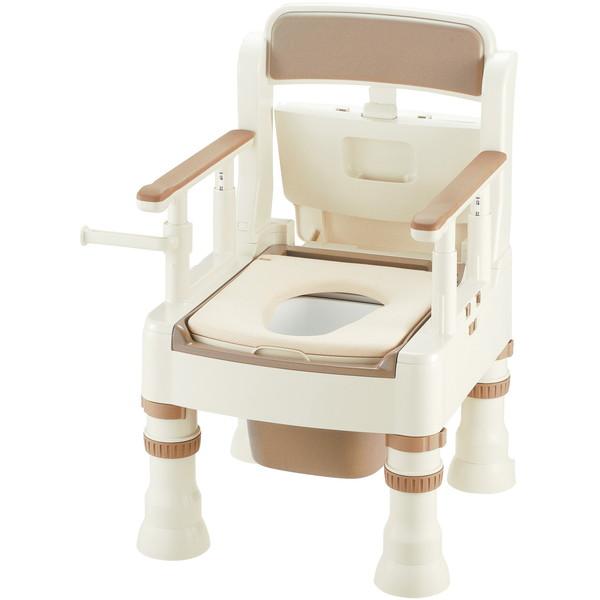 【送料無料】Richell(リッチェル) ポータブルトイレきらくMY型(やわらか便座) アイボリー [介護 福祉 医療 病院 介助]