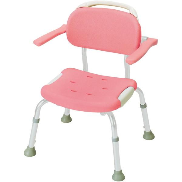 【送料無料】Richell(リッチェル) やわらかシャワーチェア 肘掛付コンパクト ピンク 標準タイプ [介護 福祉 医療 病院 介助 浴室 お風呂 おふろ]