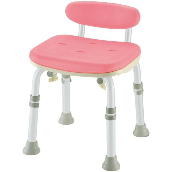 【送料無料】Richell(リッチェル) やわらかシャワーチェア ミニ背付L型 ピンク 標準タイプ [介護 福祉 医療 病院 介助 浴室 お風呂 おふろ]