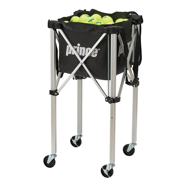 【送料無料】prince PL064 ロックピンボールバスケット BLK ブラック [テニスボールバスケット(ロックピンキャスター付)] プリンス テニス テニス用品 ロックピンキャスター付