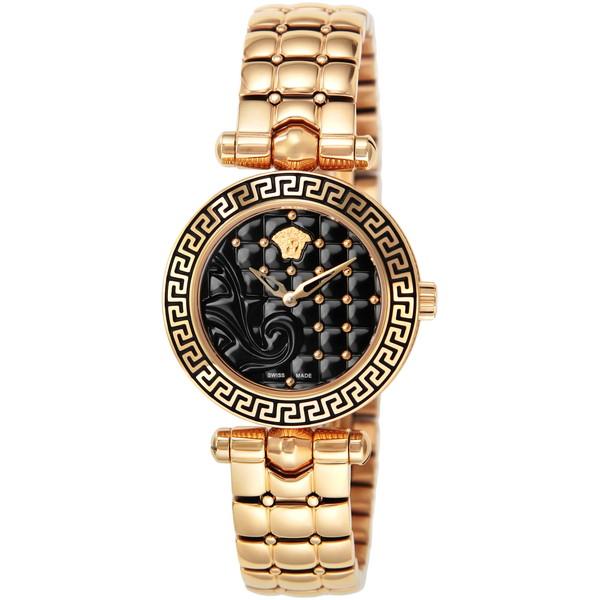【送料無料】VERSACE VQM050015 ブラック/ゴールド マイクロバニタス [クォーツ腕時計 (レディースウオッチ)]【並行輸入品 VQM050015】, ラリーグラス:b15a056f --- idelivr.ai