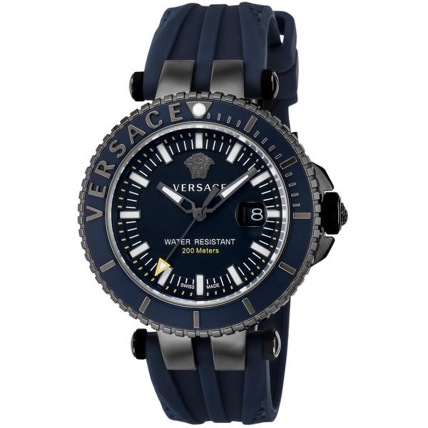 VERSACE VAK020016 ブラック/ネイビー V-RACEDIVER [クォーツ腕時計 (メンズウオッチ)] 【並行輸入品】
