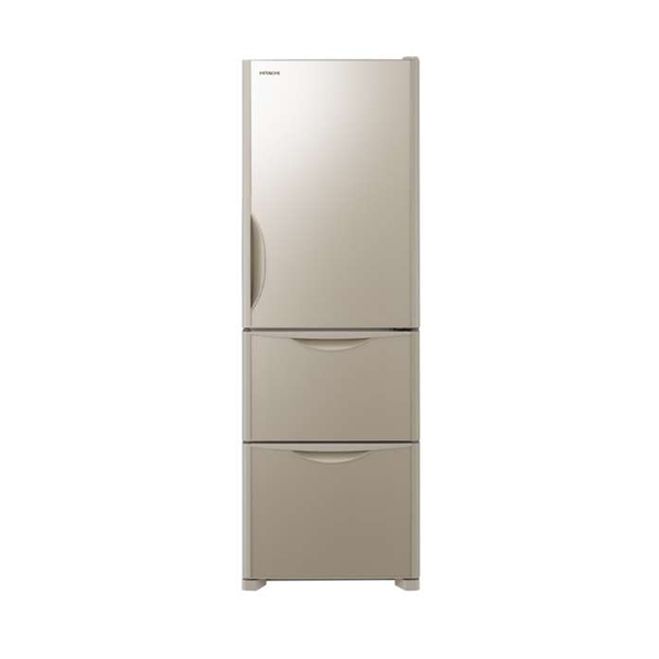 【送料無料】日立 R-S38JV(XN) クリスタルシャンパン [冷蔵庫(375L・右開き)]