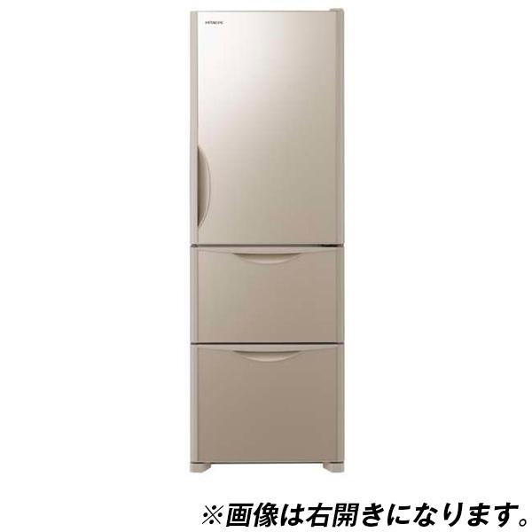 【送料無料】日立 R-S38JVL(XN) クリスタルシャンパン [冷蔵庫(375L・左開き)]