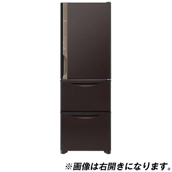 【送料無料】日立 R-K38JVL(TD) ダークブラウン [冷蔵庫(375L・左開き)]