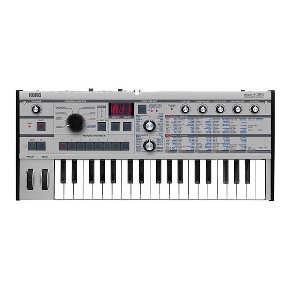 【送料無料】KORG microKORG-PT プラチナ Synthesizer/Vocoder PT [シンセサイザー(37鍵盤)]
