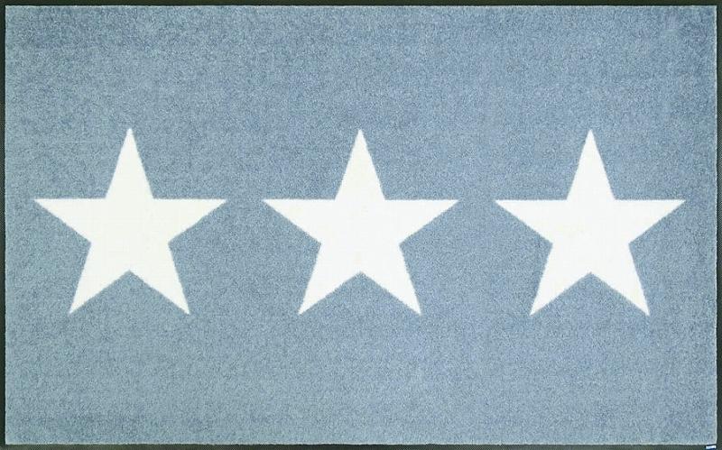 【送料無料】クリーンテックスジャパン C022B Stars grey 75×120cm [星柄 玄関マット マット 洗える 滑り止め ドアマット 泥除け エントランスマット スター柄 カーペット ラグ インテリア] 【離島配送不可】