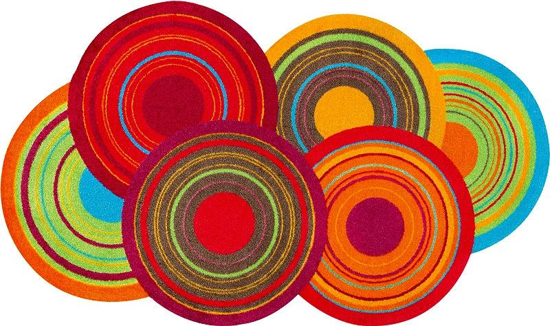 【送料無料】クリーンテックスジャパン K023E Cosmic Colours 70×120cm [洗い 吸水マット エントランスマット 滑り止め 玄関マット マット キッチンマット デザインマット カーペット ラグ インテリア] 【離島配送不可】