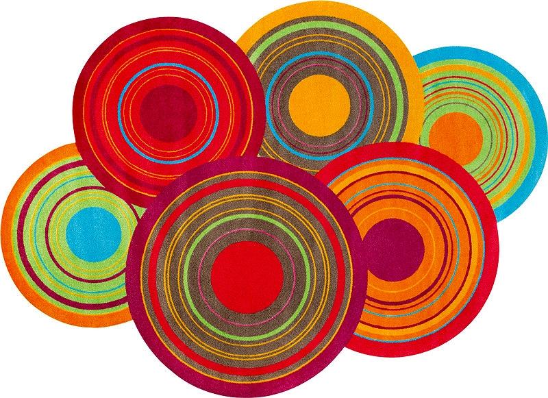 【送料無料】クリーンテックスジャパン K023K Cosmic Colours 140×200cm [洗い 吸水マット エントランスマット 滑り止め 玄関マット マット キッチンマット デザインマット カーペット ラグ インテリア] 【離島配送不可】