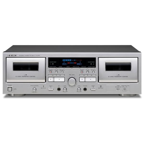 カセットテープの魅力を改めて堪能できるテープレコーダーのティアックならではの正統派ダブルカセットデッキ TEAC 公式通販 カセットデッキ W-1200 即納送料無料!
