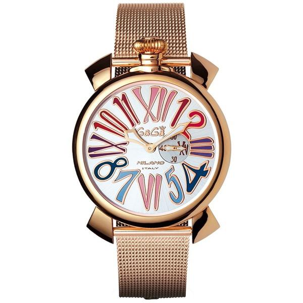 【送料無料】GAGA milano(ガガミラノ) 5081.1 MANUALE SLIM 46MM GOLD PLATE [クォーツ腕時計(ユニセックス)] 【並行輸入品】